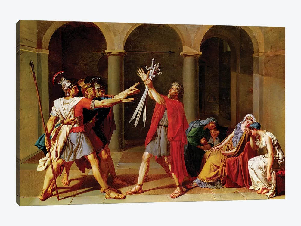 The Oath of the Horatii, c.1783 1-piece Art Print