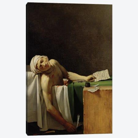 The Death of Marat (after Jacques-Louis David)  Canvas Print #BMN8218} by Jerome-Martin Langlois Canvas Art Print