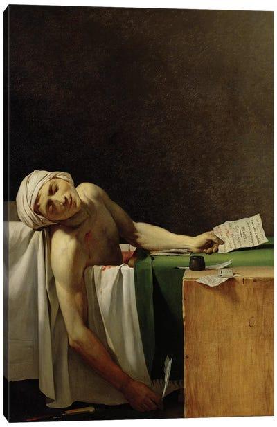 The Death of Marat (after Jacques-Louis David)  Canvas Art Print