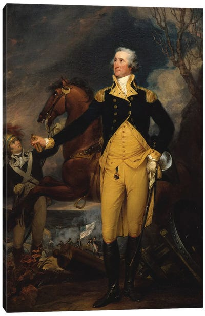 George Washington before the Battle of Trenton, c.1792–94  Canvas Art Print