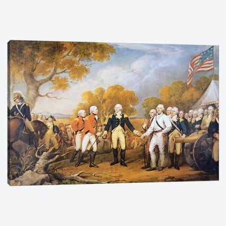 Surrender of General Burgoyne at Saratoga, New York, 17 October 1777 Canvas Print #BMN8222} by John Trumbull Canvas Wall Art