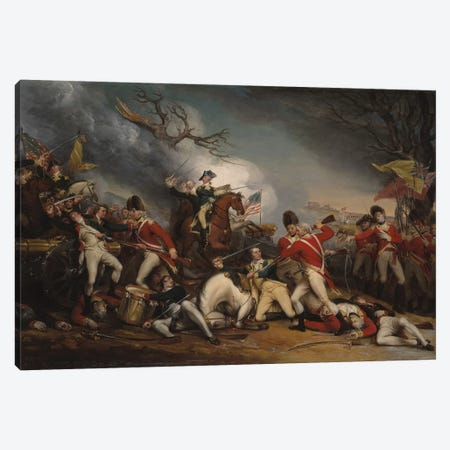 The Death of General Mercer at the Battle of Princeton, January 3, 1777  Canvas Print #BMN8224} by John Trumbull Art Print