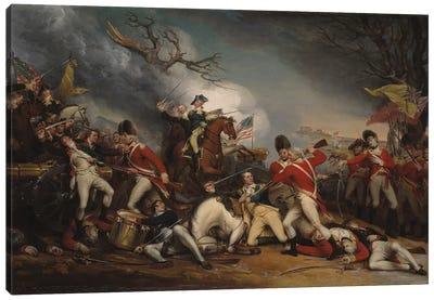 The Death of General Mercer at the Battle of Princeton, January 3, 1777  Canvas Art Print