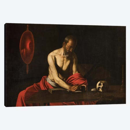 Saint Jerome, 1607  Canvas Print #BMN8226} by Michelangelo Merisi da Caravaggio Canvas Art Print