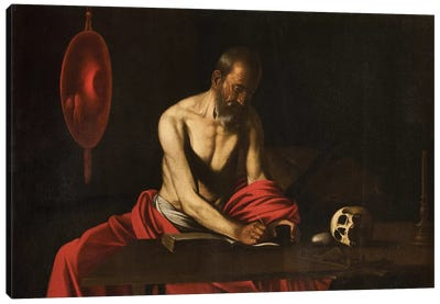 Saint Jerome, 1607  Canvas Art Print