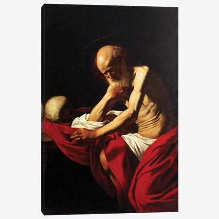 St Jerome Penitent, 1605  Canvas Print #BMN8227} by Michelangelo Merisi da Caravaggio Canvas Print