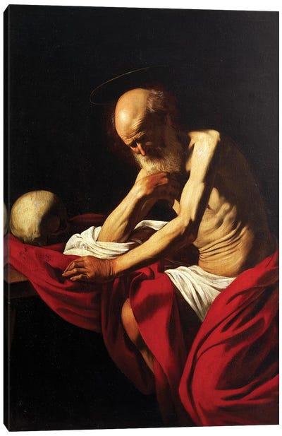 St Jerome Penitent, 1605  Canvas Art Print