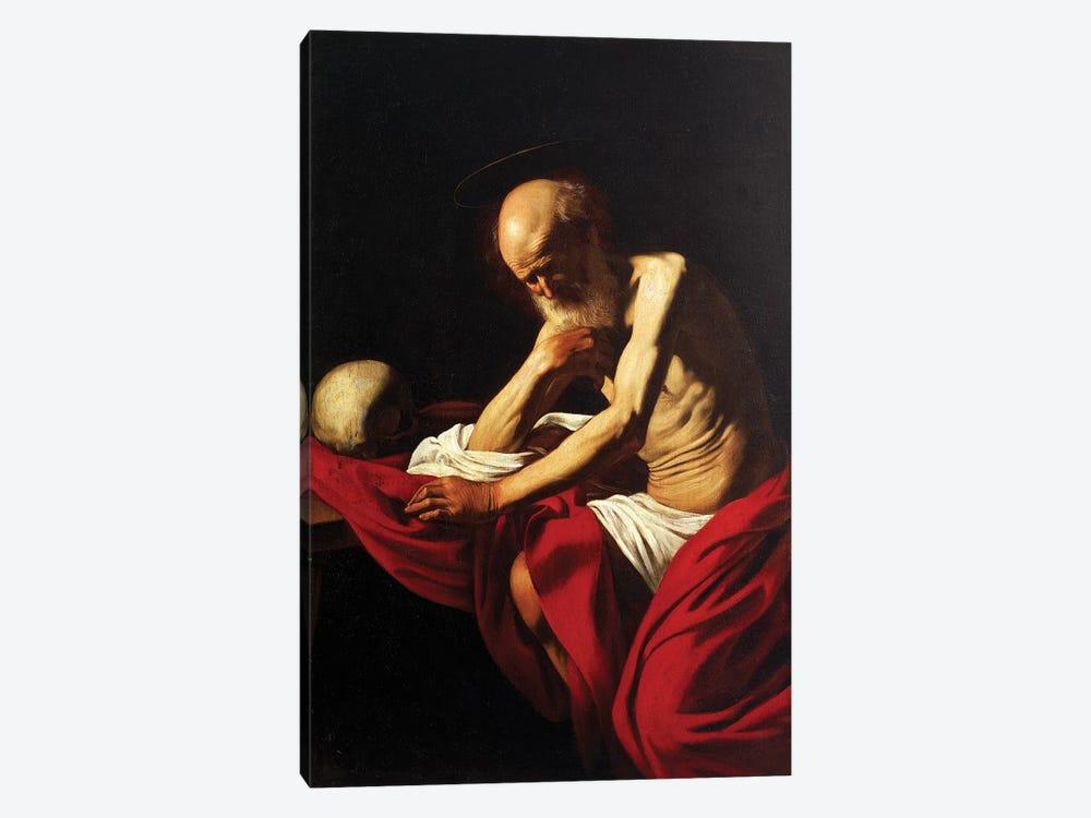 St Jerome Penitent, 1605  by Michelangelo Merisi da Caravaggio 1-piece Canvas Art