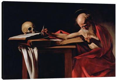 St Jerome Writing, c.1605  Canvas Art Print