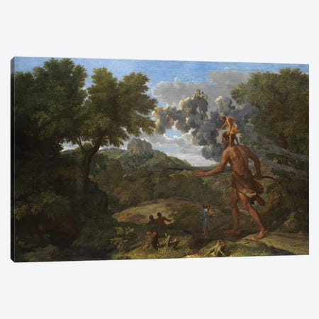 Blind Orion Searching for the Rising Sun, 1658  Canvas Print #BMN8231} by Nicolas Poussin Canvas Print