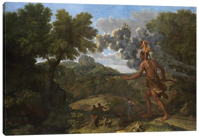 Blind Orion Searching for the Rising Sun, 1658  Canvas Art Print