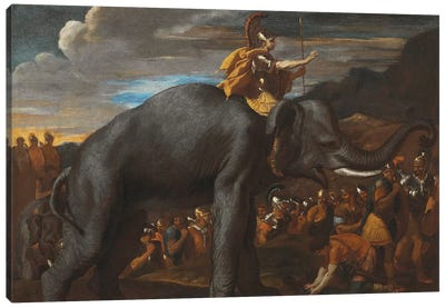 Hannibal Crossing the Alps on an Elephant  Canvas Art Print