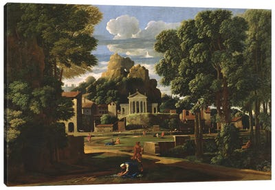 Landscape with the Ashes of Phocion, 1648  Canvas Art Print