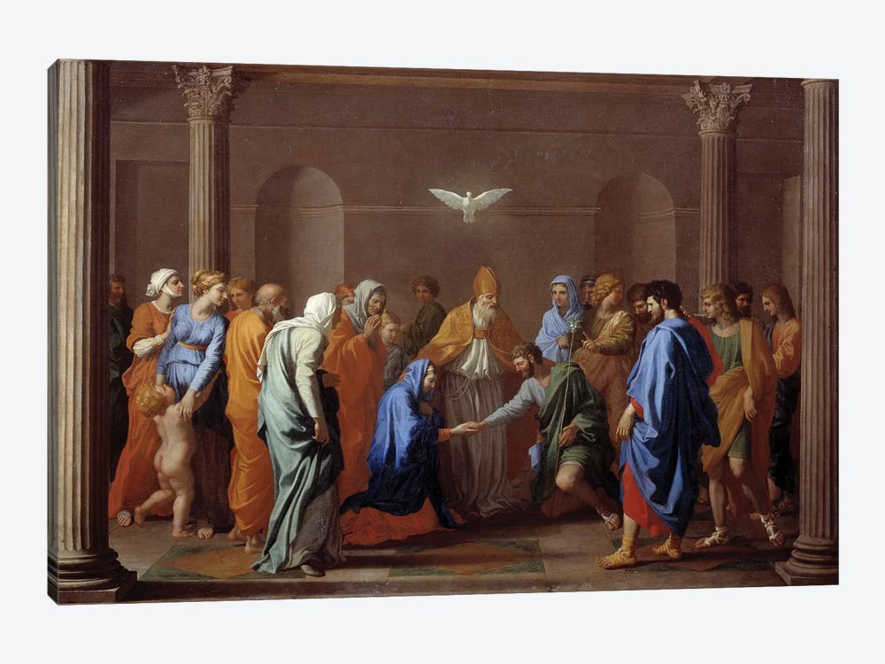 """Sacrament of Christian life: """"Marriage"""", 17th century.  by Nicolas Poussin 1-piece Canvas Art"""