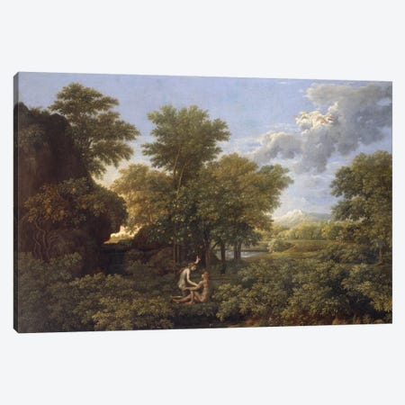 Spring or Earth Paradise, 17th century.  Canvas Print #BMN8239} by Nicolas Poussin Canvas Print