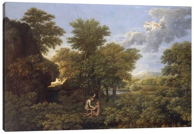 Spring or Earth Paradise, 17th century.  Canvas Art Print