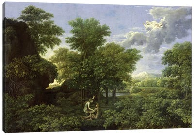Spring, or The Garden of Eden, 1660-64  Canvas Art Print