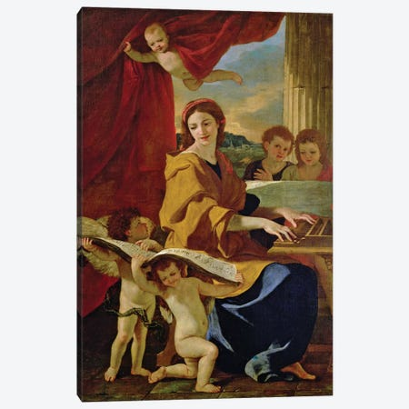 St. Cecilia  Canvas Print #BMN8241} by Nicolas Poussin Canvas Artwork