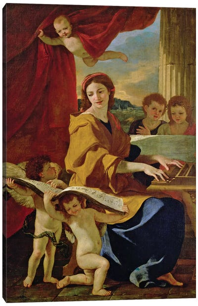 St. Cecilia  Canvas Art Print