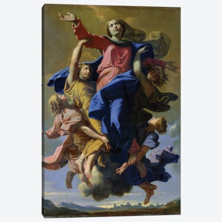 The Assumption of the Virgin, 1649-50  Canvas Print #BMN8243} by Nicolas Poussin Canvas Artwork