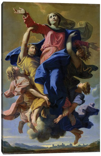 The Assumption of the Virgin, 1649-50  Canvas Art Print
