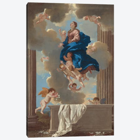 The Assumption of the Virgin, c.1630-32  Canvas Print #BMN8244} by Nicolas Poussin Art Print