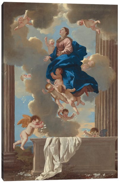 The Assumption of the Virgin, c.1630-32  Canvas Art Print