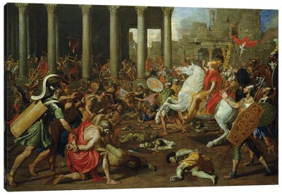The Destruction of the Temples in Jerusalem by Titus, c.1638/39 Canvas Art Print
