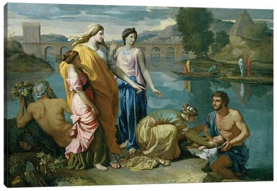 The Finding of Moses, 1638  Canvas Art Print