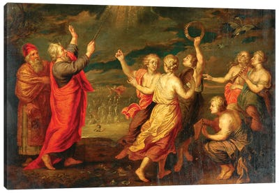 The Israelites Rejoicing After Crossing The Red Sea  Canvas Art Print
