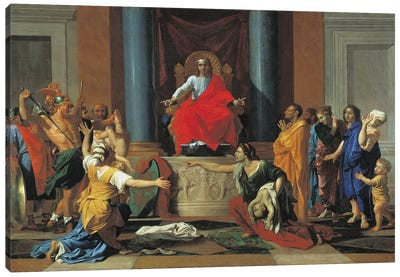 The Judgement of Solomon, 1649  Canvas Art Print