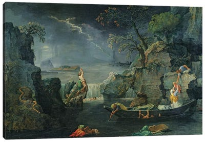 Winter, or The Flood, 1660-64  Canvas Art Print