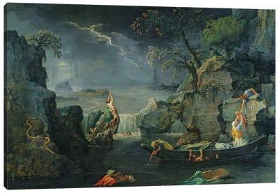 Winter, or The Flood, 1660-64  Canvas Art Print