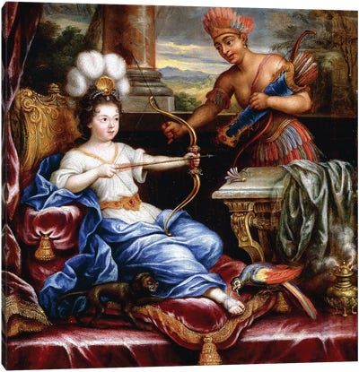 An Allegory of America Paying Homage to Europe,  Canvas Art Print