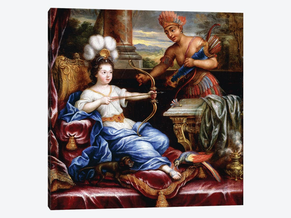 An Allegory of America Paying Homage to Europe,  by Pierre Mignard 1-piece Canvas Art