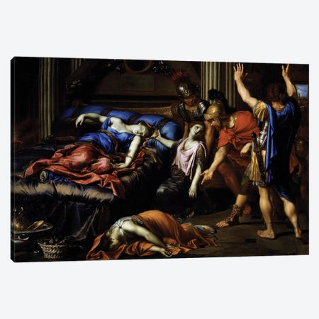 Death of Cleopatra Canvas Print #BMN8255} by Pierre Mignard Canvas Art