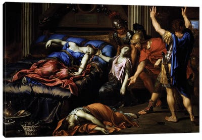 Death of Cleopatra Canvas Art Print