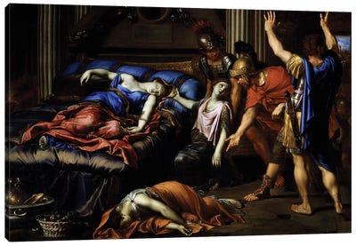 Death of Cleopatra Canvas Art Print