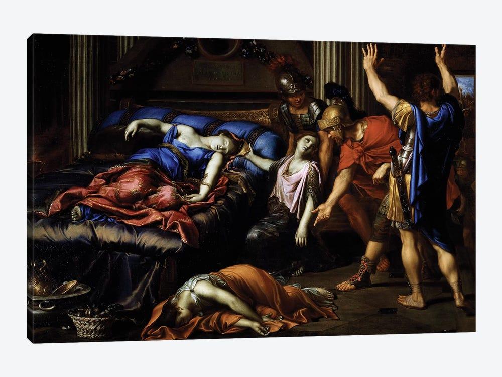 Death of Cleopatra by Pierre Mignard 1-piece Canvas Print