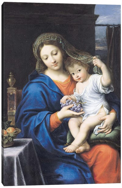 The Virgin of the Grapes, 1640-50  Canvas Art Print