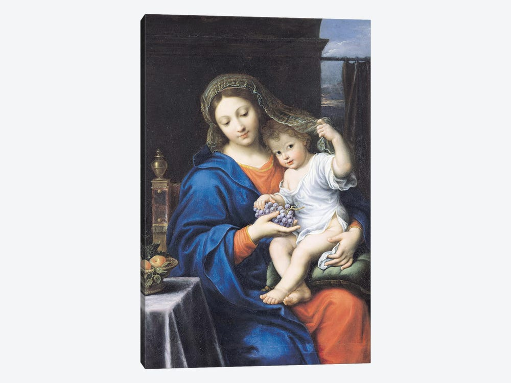 The Virgin of the Grapes, 1640-50  by Pierre Mignard 1-piece Canvas Print