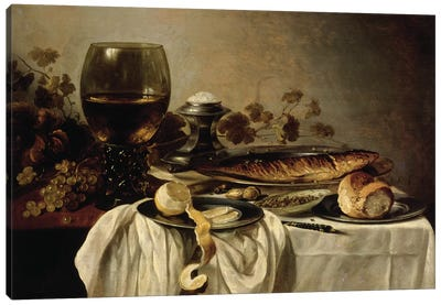 Breakfast, 1646  Canvas Art Print