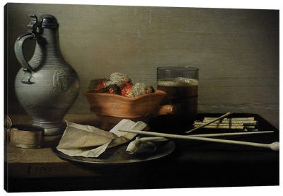 Still Life With Clay Pipes, 1636 Canvas Art Print