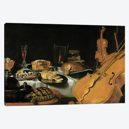 Still Life with Musical Instruments, 1623  Canvas Print #BMN8274} by Pieter Claesz Canvas Wall Art