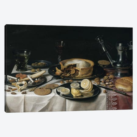 Still Life, 1625-30  Canvas Print #BMN8275} by Pieter Claesz Canvas Artwork