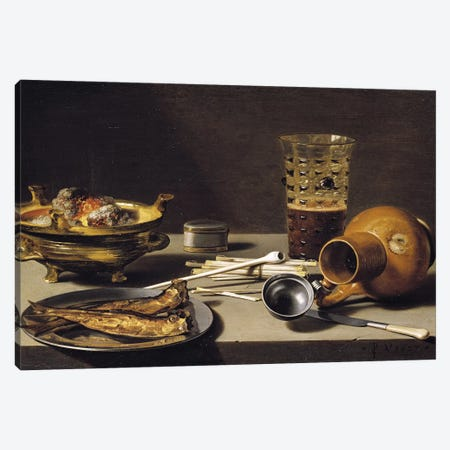 Still Life, 1627  Canvas Print #BMN8276} by Pieter Claesz Canvas Artwork