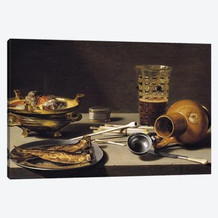 Still Life, 1627  Canvas Print #BMN8276} by Pieter Claesz Canvas Artwork