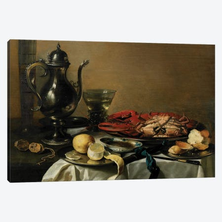 Still Life, 1643  Canvas Print #BMN8277} by Pieter Claesz Canvas Artwork