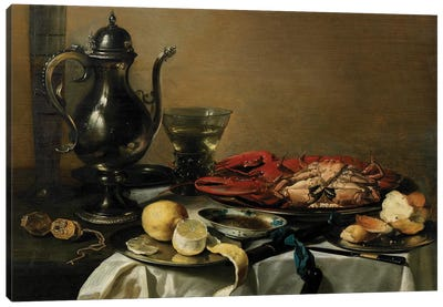 Still Life, 1643  Canvas Art Print