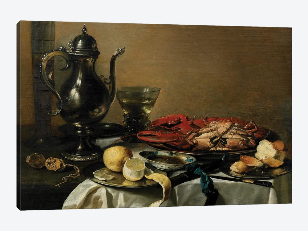 Still Life, 1643  by Pieter Claesz 1-piece Canvas Art Print